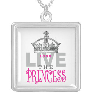 Long Live The Princess Silver Plated Necklace