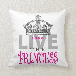 Long Live The Princess Throw Pillow