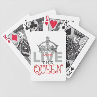 Long Live the QUEEN! Bicycle Playing Cards