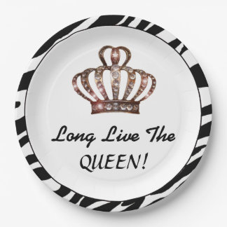 """""""Long Live The QUEEN!"""" Paper Plate"""