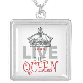 Long Live the QUEEN! Silver Plated Necklace