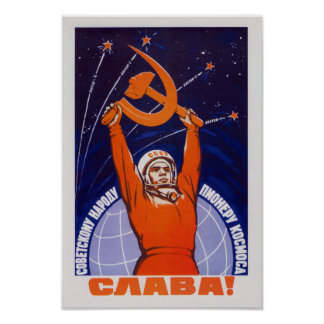 Long Live The Soviet People - The Space Pioneers Poster