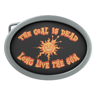 Long Live the Sun Oval Belt Buckles
