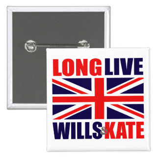 Long Live Wills & Kate 2 Inch Square Button