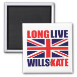 Long Live Wills & Kate 2 Inch Square Magnet