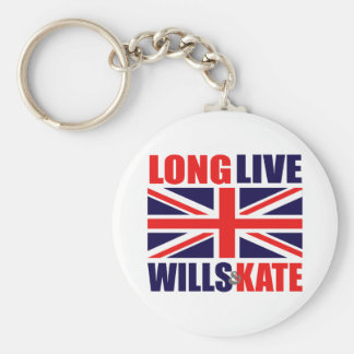 Long Live Wills & Kate Basic Round Button Keychain