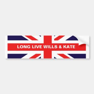 Long Live Wills & Kate Car Bumper Sticker