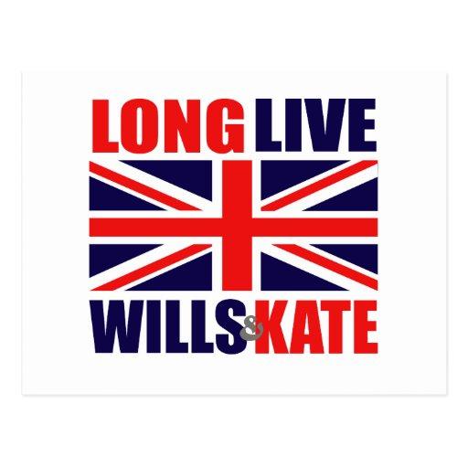 Long Live Wills & Kate Postcard