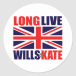 Long Live Wills & Kate Round Stickers