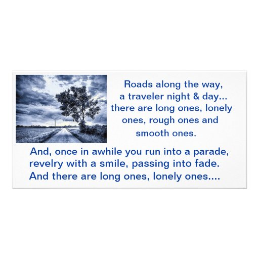 Long, Lonely Roads Poem - Personalized Photo Card