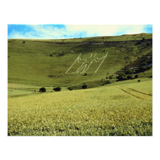 Long man across the corn, Sussex, England Personalized Flyer