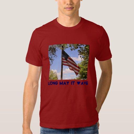 Long May It Wave Flag American Apparel Tee