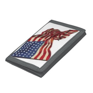 Long May She Wave - Flag Tri-fold Wallets