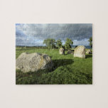 Long Meg and Her Daughters Stone Circle photo Jigsaw Puzzle