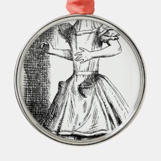 Long Neck Alice Metal Ornament