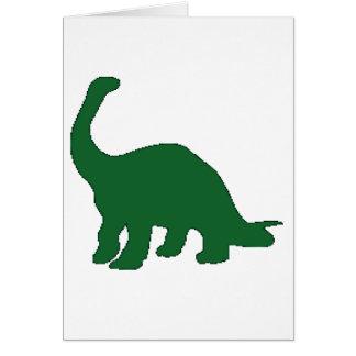 Long Neck Dinosaur Card