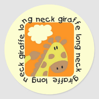 Long Neck Giraffe Tshirts and Gifts Sticker