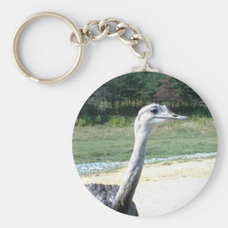 Long Neck Ostrich Profile Keychains