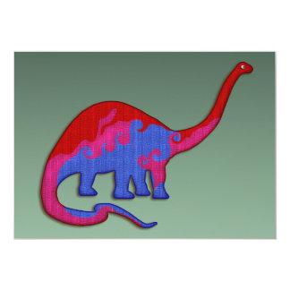 Long Necked Dinosaur 5x7 Paper Invitation Card