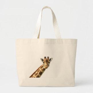 Long Necked Giraffe Canvas Bag