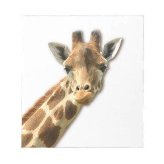 Long Necked Giraffe  Notepad