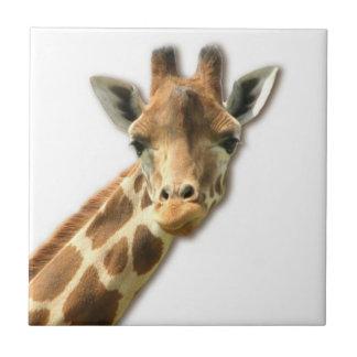 Long Necked Giraffe Tile