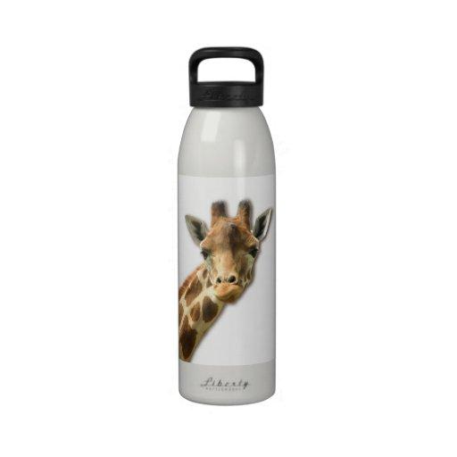 Long Necked Giraffe Water Bottle