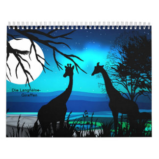 Long necks/giraffes calendar
