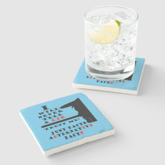 Long Nose Alternative Facts Marble Coaster