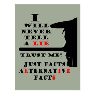 Long Nose Alternative Facts Never Lie Postcard