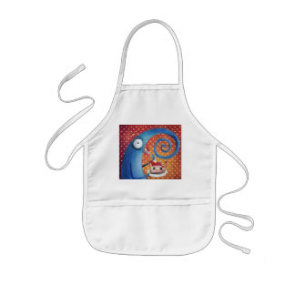 Long-Nose Creature cought in the act Kids' Apron