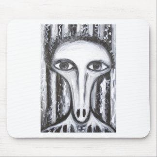 Long Nose Fortune-Teller odd surrealism portrait Mousepad