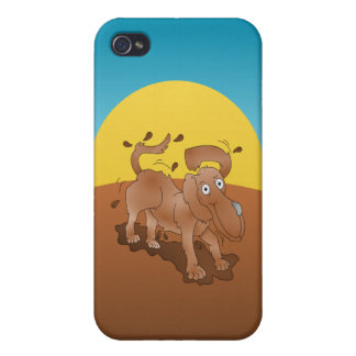 Long nosed dog shaking off the muck iPhone 4/4S covers