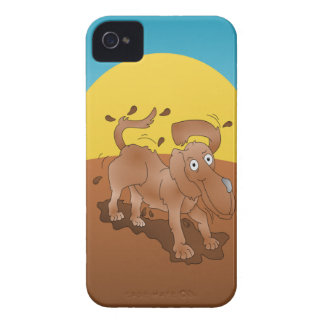 Long nosed dog shaking off the muck iPhone 4 case