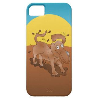 Long nosed dog shaking off the muck iPhone SE/5/5s case