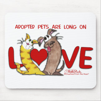 Long on Love-Cat and Dog Mouse Pad