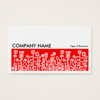Long Picture 072 - Cyber Garden - Red Business Card