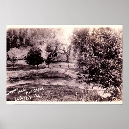 Long Pine Nebraska Horseshoe Bend on Pine Creek Poster