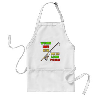 Long Poles Fishing T-shirts and Gifts Adult Apron