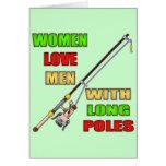 Long Poles Fishing T-shirts and Gifts Greeting Card