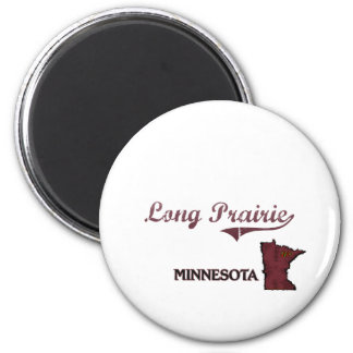 Long Prairie Minnesota City Classic Magnet