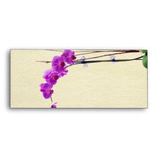 long puple orchid envelopes