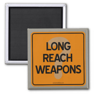 LONG REACH WEAPONS? 2 INCH SQUARE MAGNET