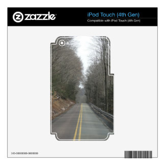 Long road decals for iPod touch 4G