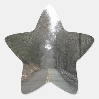 Long road star sticker