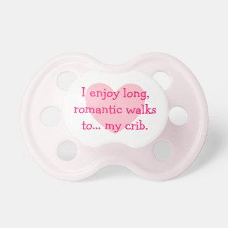 Long Romantic Walks to My Crib Baby Pacifiers
