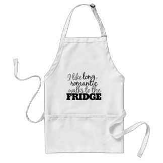 Long romantic walks to the fridge adult apron