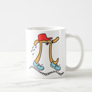Long Running © Pi - Funny Pi Guy - Pi Day Gift Classic White Coffee Mug