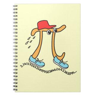 Long Running Pi - Funny Pi Guy Spiral Note Books
