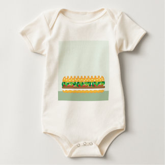 Long Sandwich vector Baby Bodysuit